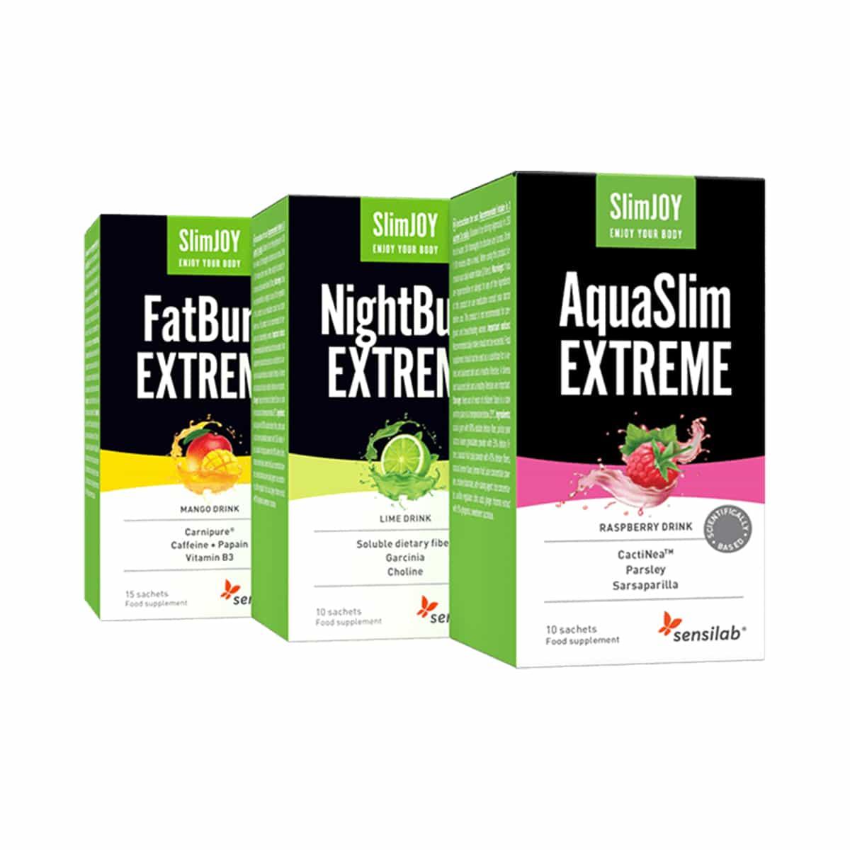 SlimJoy 15-Day Booster Weight Loss FatBurn AquaSlim NightBurn